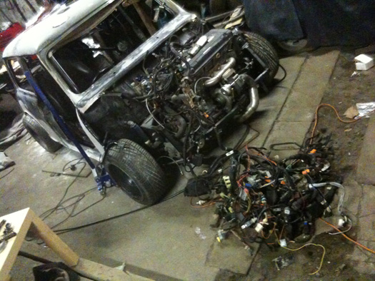 1968 honda vtec b18c4 turbo mini conversion james fawcett isn t wiring great this is the bit most people d but luckily i have the whole honda civic loom to play to try and fit into my mini