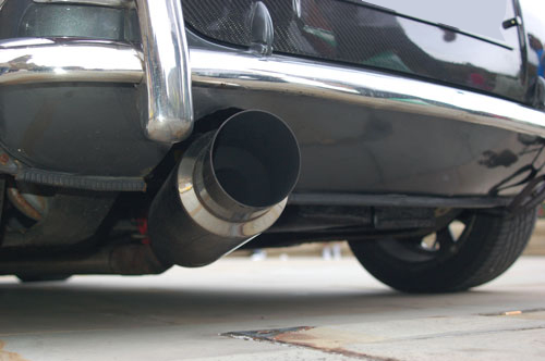 classic mini Japanese engine exhaust